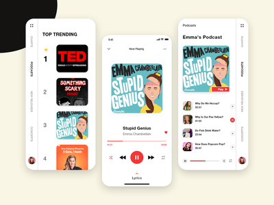 Podcast App music app music podcast uiux design app