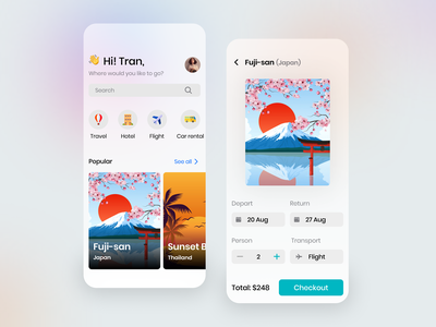 Travel App - Ui/Ux Design hotel travel agency traveling sketch figma application ios design ios product design travel app ux illustration uiux design app