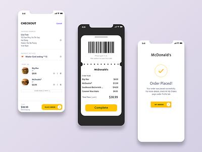 Payment ( McDonald's ) payment app branding uiux design app mcdonalds payment