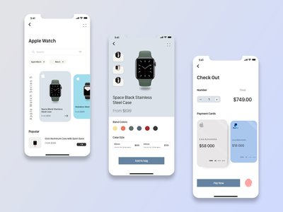 Apple Watch ! New shop apple watch apple branding new uiux design app
