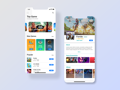 App Store UI fornite gamecenter games design uiux new game design store app appstore game app