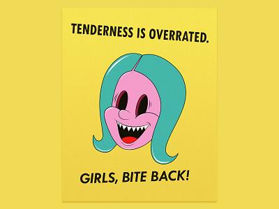 Girls, Bite Back! character digital art design poster illustration
