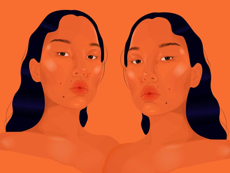 Portrait of Tsunaina illustration vector digital art portrait art portrait