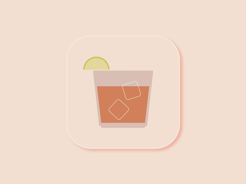 Daily UI 005: App Icon flat minimal ios dailyuichallenge dailyui icon cocktail