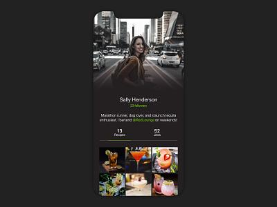 Daily UI 006: User Profile profile cocktail ios ui interface dailyuichallenge dailyui