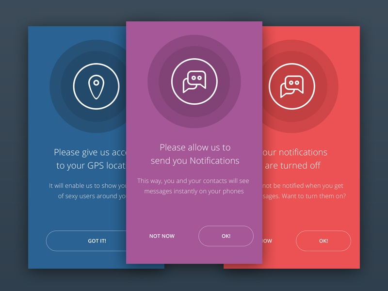 App permission mockup via dribbble.com