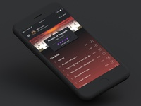 Heavy Metal App - Dark UI Concept (part 2)