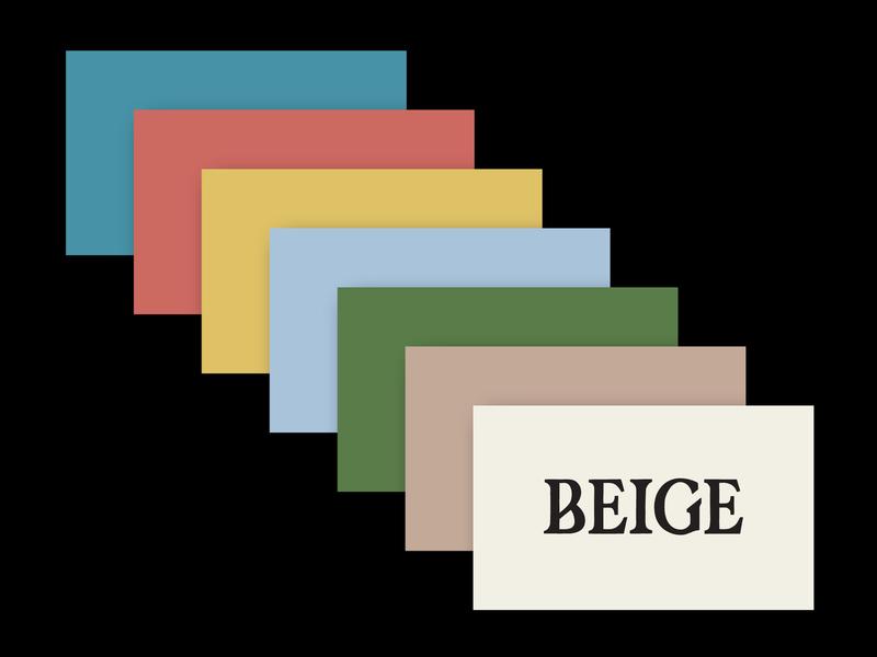 Beige Colours beige cards colours