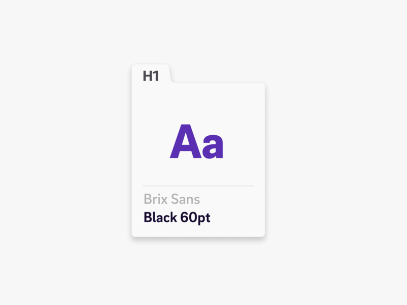 Type Chip brand and identity brix sans typography brand guidelines