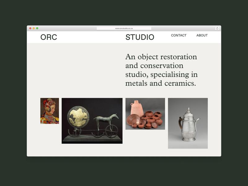 ORC Studios website minimalist design website orc studio