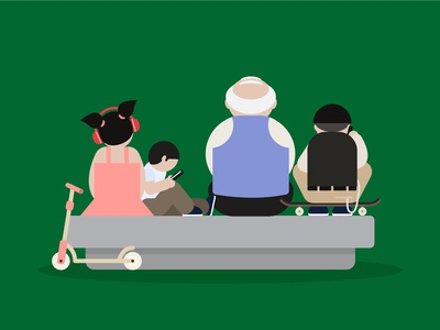 Ageing Societies Visual vector ageingsociety agingsociety illustration