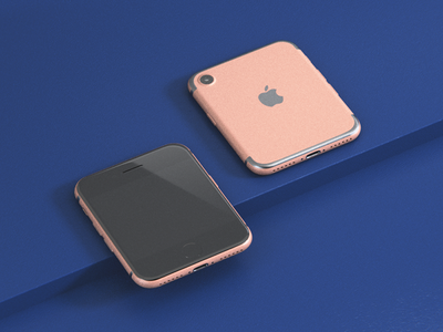 Prototype iPhone fits in every pocket glossy rose 3d miniature nano iphone