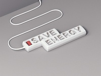 Save Energy Typo Work