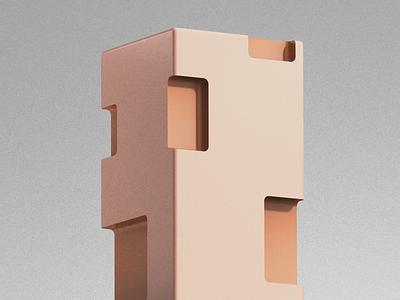 Process Coverdesign for Magazine artwork illustration architecture design 3d art