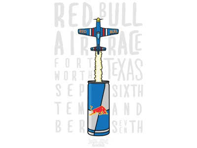 Red Bull Air Race Event Poster red bull aviation poster event illustration typography