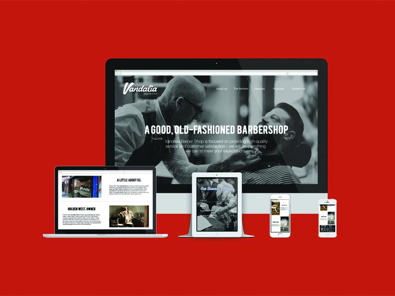 Vandalia Barber Shop Website responsive website web design mockup ohio web barber barber shop barbershop