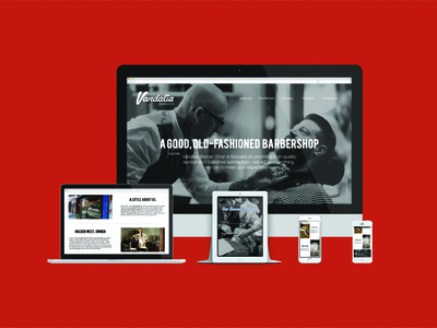 Vandalia Barber Shop Website responsive website web design mockup ohio web barber barber shop barbershop