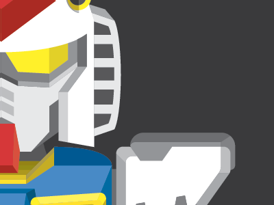 Gundam Illustration gundam illustration illustrator adobe robot robo poster simple simplistic minimal minimalist