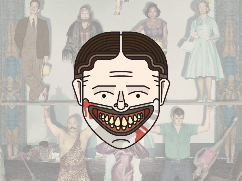 American Horror Story: Freak Show twisty dandy clown ahs american horror story smile illustration simple vector horror scary blood