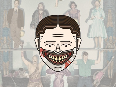 American Horror Story: Freak Show twisty dandy clown ahs american horror story smile illustration simple vector horror scary blood
