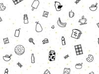 Snacks Background Texture