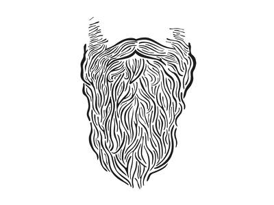 Your Beard is Good. fibres hairs hair illustration vector wizard viking hipster beard