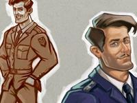 2D Character Desig, WWI British Pilot by Klinarts