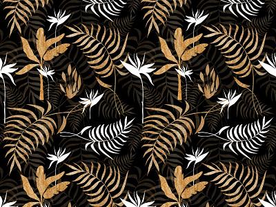 pattern template animation logo 3d gold black seamlesspattern tropics pattern app branding illustration