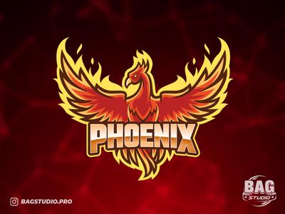 Phoenix Logo Template gaming gamer team sport wings vector template logo esport fire bird phoenix