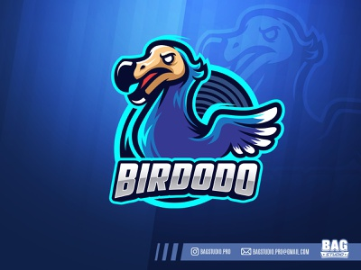 Dodo Bird Esport Logo illustration animal sport template vector character mascot cartoon logo esport dodo