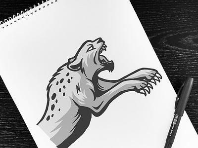 Jumping Wild Jungle Cat esport logo jumping attack animal wild leopard cheetah wildcat cat feline esport illustration mascot logo