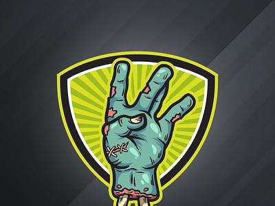 West Coast Zombie Hand illustration vector gesture westcoast hand zombie cartoon logo