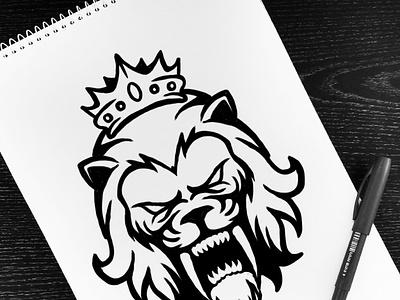 Silver Lions Esport Logo team logo illustration lion head wild feline esport lion freepik character mascot logo