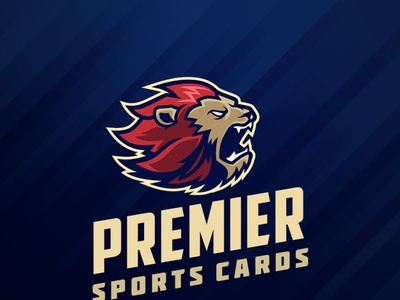 Premier Lion Mascot Logo design vector sports esport sports logo illustration lion head lion logo mascot