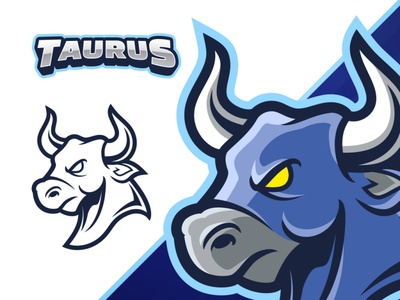 Bull Esport Mascot Logo taurus cartoon freepik template league team illustrator logo mascot esports bull