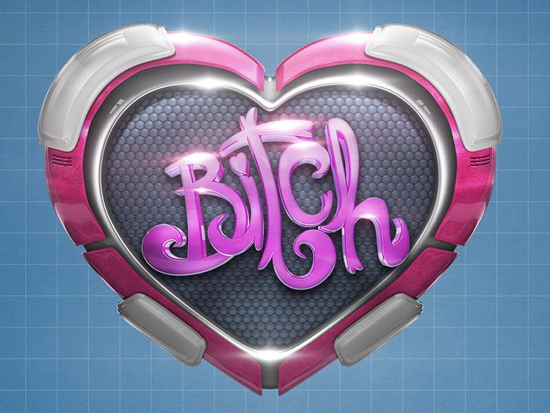 Cyber Heart valentine love lettering cybernetic 3d cinema4d render metal heart