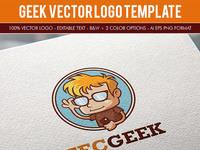 Geek logo template preview