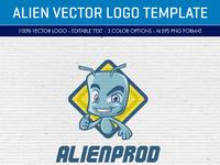 Alien logo template preview