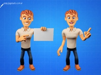 3d character guy poses