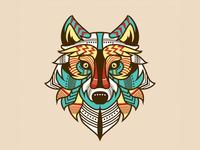 Ethnic Wolf Illustration