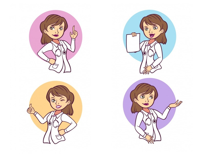 Doctor Woman Character Set by Horacio Velozo on Dribbble