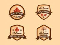 Autumn Badges Collection 01