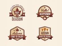 Autumn Badges Collection 02