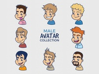 Cartoon Male Avatar Collection