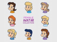Cartoon Female Avatar Collection