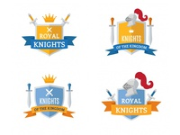 Medieval Knight Badges Collection