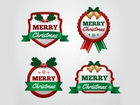 Free Christmas Badges Collection