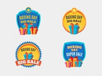 Boxing Day Badges Collection