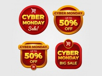 Cyber Monday Badges Collection