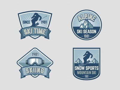 Ski Badges Collection